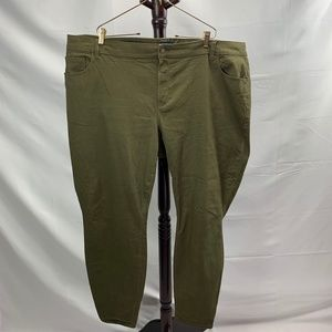 Olive Green Old Navy Rock Star Mid Rise Pants